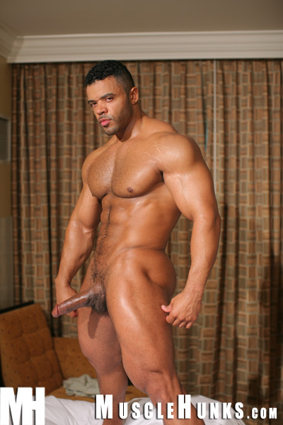 MuscleHunks.com just added a new set of videos for the adorable, HAIRY... that's right, HAIRY and verbal muscle hunk Mario Borelli. Mario has got to be the perfect guy. He's out on the beach, talking on his cell, goofing around... etc. Then they cut to him jerking off his HUGE COCK and the whole time he's talking dirty to the camera about how hard he's going to cum and how horny he is. Such a turn on! Love a guy who knows how to talk dirty. Get really verbal while he strokes his meat.